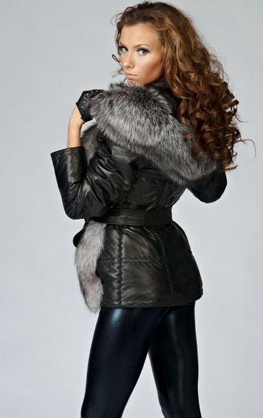 Женские кожаные пуховики на современном рынке