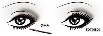 дымчатый макияж глаз: завершение