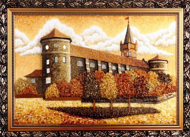 Картины из янтаря - благородный подарок